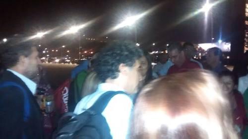 No dia 13, após reunião com Dilma, Paulo Betti foi a trincheira conversar e apoiar o movimento