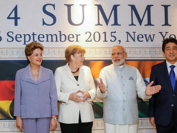 Brasil, Alemanha, Índia e Japão são o G 4
