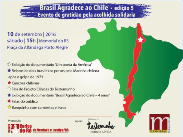 Chile recebeu cerca de seis mil brasileiros após o golpe de 1964