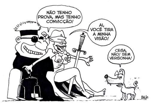 Resultado de imagem para justiça brasileira charge