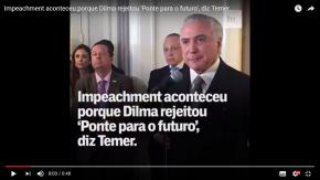 Peixe morre pela boca: Traíra explica por que deram o golpe contra Dilma(vídeo)