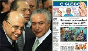 Golpe de Estado vai gerar mais pobres no Brasil até 2025, confirmaGlobo