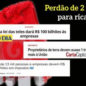 Natal dos Patos: 2 trilhões em dívidas de ricaços podem ser perdoados por Temer ePSDB