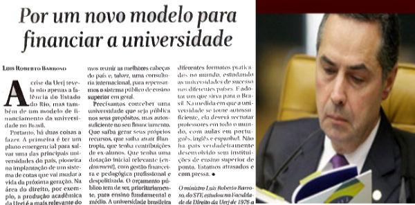 Filho Ingrato: Luís Roberto Barroso, O Filho Ingrato Da Universidade