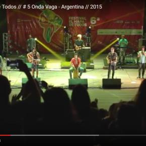 Clipe Musical: Onda Vaga, da Argentina, no Festival El Mapa de Todos (PortoAlegre)