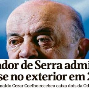 """Dinheiro da Odebrecht para Serra já está """"limpinho echeiroso"""""""