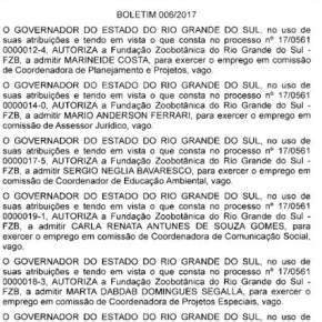 Após extinguir Fundação, Sartori nomeia cupinchas pra ocuparem CCs na mesmaFundação