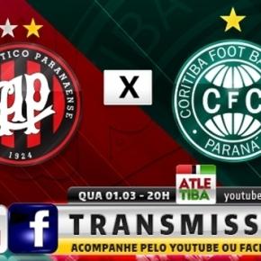 Após adiamento, Atletiba é confirmado com transmissão via Facebook eYoutube