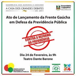 Frente Gaúcha em Defesa da Previdência será lançada na Assembléia Legislativa doRS