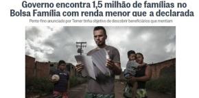 Ironia da demagogia: maioria dos irregulares do Bolsa Família tinham direito amais