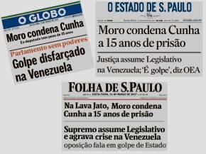 NO BRASIL FOI DEMOCRACIA, NA VENEZUELA É GOLPE : OS PESOS E MEDIDAS DA MÍDIATUPINIQUIM