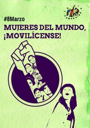 Via Campesina Internacional se soma à convocatória de Greve Internacional dasMulheres