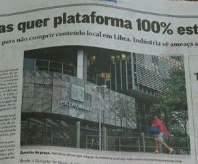 """Traição a pátria escrachada na manchete dos jornais: """"Petrobras quer plataforma 100% estrangeira"""""""