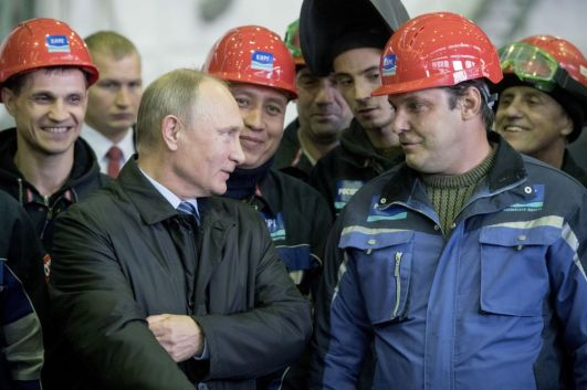 Putin trabalhadores