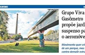 Luta do Movimento Viva Gasômetro é capa do Jornal do Comércio destaSegunda-Feira