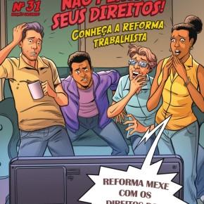 """História em quadrinhos do MPT explica como a """"reforma"""" trabalhista retira seusdireitos"""