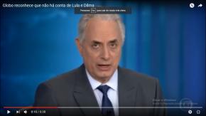 Vídeo: Jornal Nacional admite ao vivo que espalha mentiras contraLula