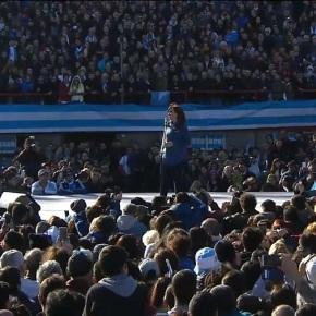 Argentina: 50 mil vão a Estádio para lançamento da Frente Partidária de CristinaKirchner