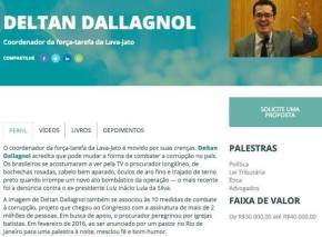 Por módicos 30 mil, você pode ter uma palestra de Deltan Dallagnol, anunciasite