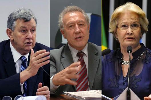 Heinze, Turra e Ana Amélia