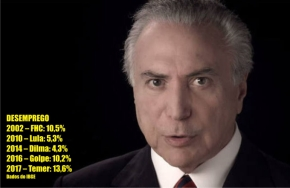 Taxa de desemprego de Temer chega a 13,6% no primeiro trimestre, segundoIBGE