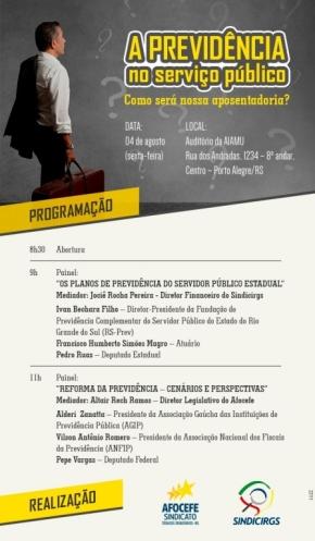 Painel dia 4 de agosto debaterá sobre como ficará a aposentadoria no Serviço Público com Reforma daPrevidência
