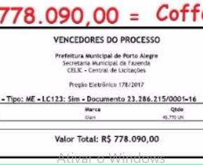 """Prefeitura de Porto Alegre gasta R$ 778 mil com empresa de """"Cofee Break"""" mas quer aumentar IPTU """"por causa dacrise"""""""
