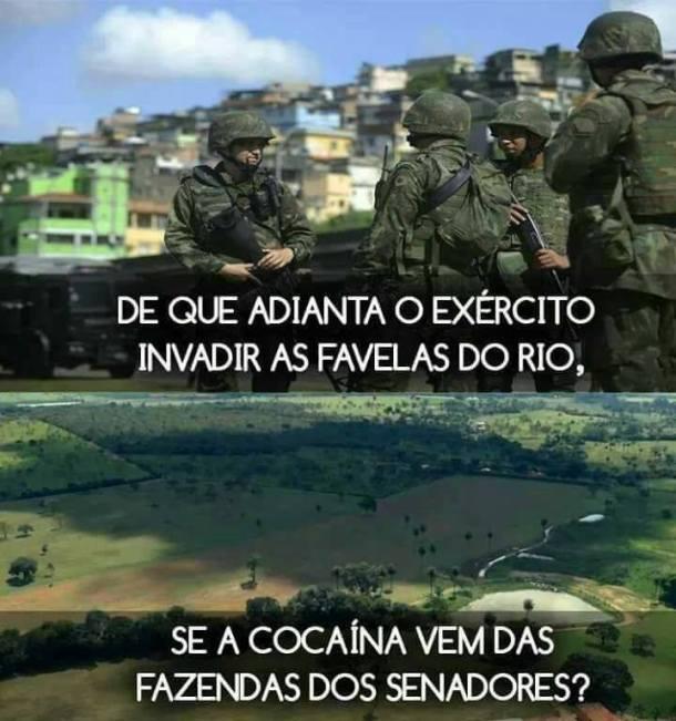 Exército cocaina