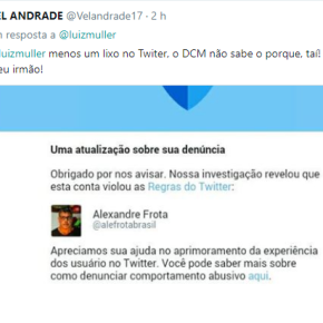 Twitter suspende conta do fascista Alexandre Frota depois dedenúncia