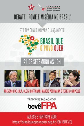 PT abre debate sobre novo projeto para oBrasil