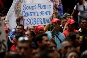 Constituinte marca situação naVenezuela