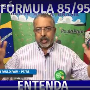 Em vídeo didático, Senador Paim explica a Lei da Fórmula 85/95 paraaposentadoria