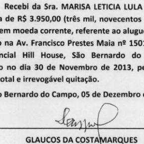 Defesa de Lula apresenta recibos delocação
