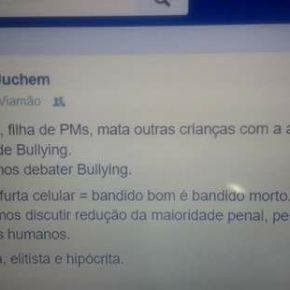 Sobre Bullying e o menino que matou colegas de escola em Goiás: um parágrafo prapensar