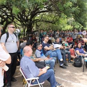Em mobilização dos servidores da Procergs, Presidente do AFOCEFE-Sindicato critica discurso dacrise