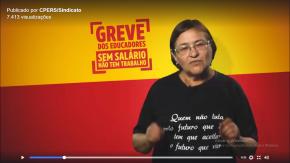 Em vídeo, Presidenta do CPERS diz por que a Greve dos Professorescontinua