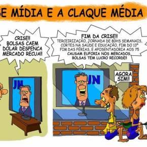 A Classe mídia e a claquemédia