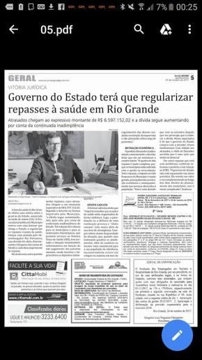 Prefeitura de Rio Grande obriga Sartori a repassar o que deve à Saúde doMunícipio