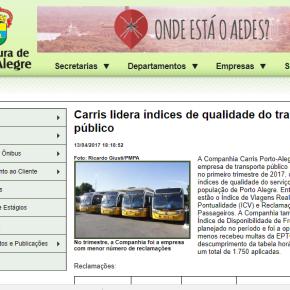 A própria Prefeitura diz que Carris é a melhor empresa. Mas Marquezan quer vendê-la. Golpe contra opovo!