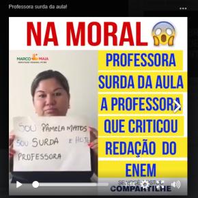 Professora surda mostra que o problema não é a Redação do ENEM(Vídeo)