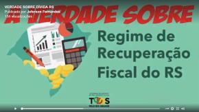 """Em vídeo didático, Deputado mostra a Verdade sobre o tal acordo sobre""""Regime Fiscal"""" que Sartori assinou comTemer"""