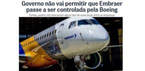 Entregar a EMBRAER à BOEING é mais um golpe no futuro do Brasil como NaçãoSoberana