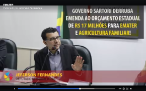 Denúncia: Sartori impede emenda de R$ 17 milhões para a EMATER no Orçamento do Estado(Vídeo)