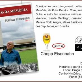 """Prefaciado por Olívio Dutra, livro """"Arquivos da Memória"""", de Kuka Pereira, será lançado nestaQuarta-feira"""