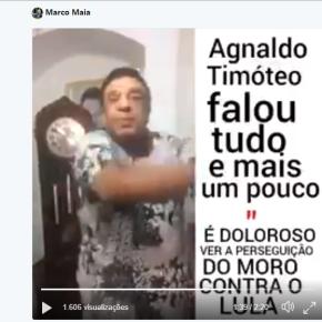 Agnaldo Timóteo mostra em vídeo por que os poderosos perseguemLula
