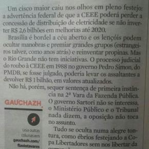 O golpe do PMDB de Padilha, Sartori, Feltes e Perondi contra a CEEE esta por seconsumar
