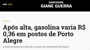 Gasolina a R$ 4,25,mas segundo a mídia o  problema mesmo era quando povo pagava menos porela