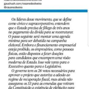 4º poder gaúcho: RBS lança vale tudo que inclui caixinha para compra de deputados, chantagem e liberação de CCs dogoverno