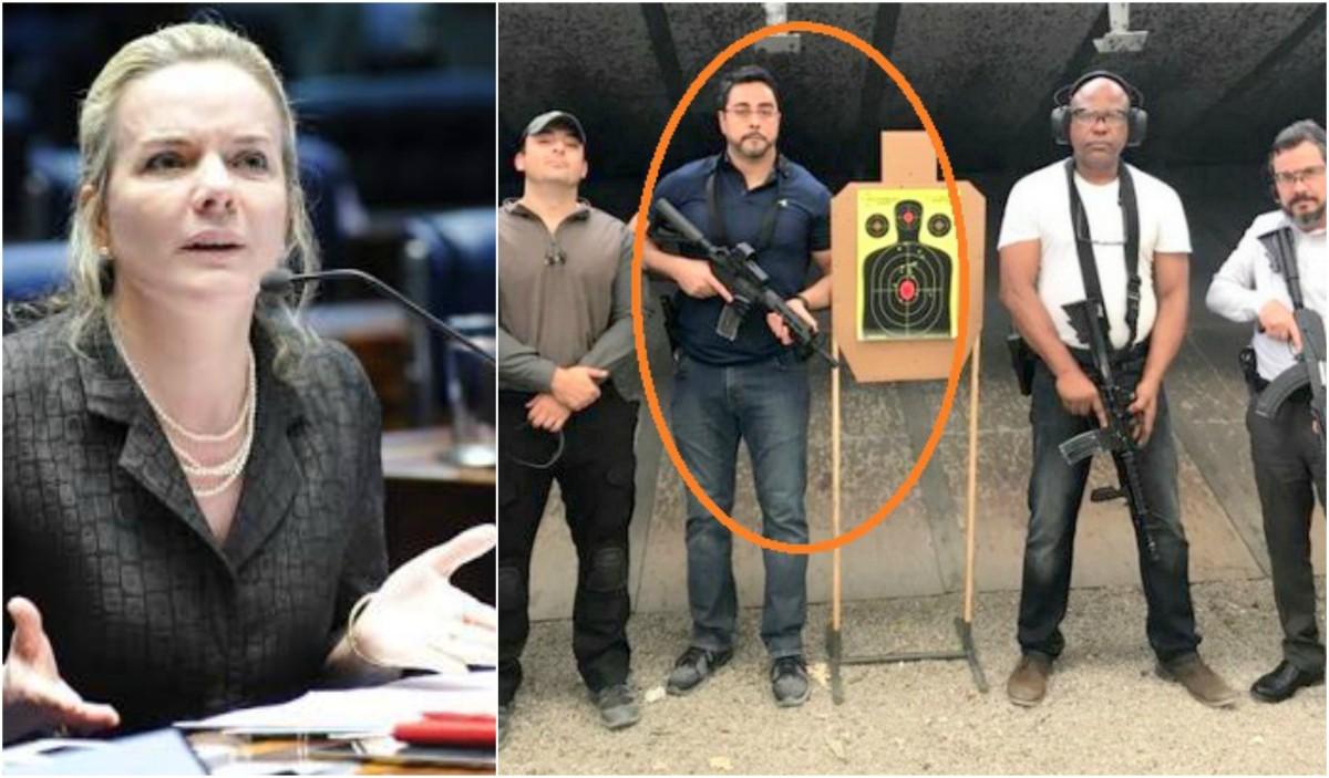 Gleisi: Quem incita a barbárie, nós ou o juiz que divulga em redes sociais fotos exibindo armas pesadas?