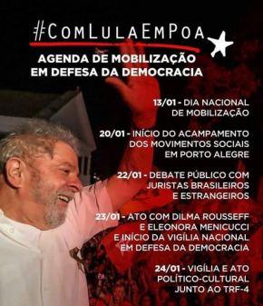 Agenda de Mobilização em Defesa da Democracia e#ComLulaEmPOA